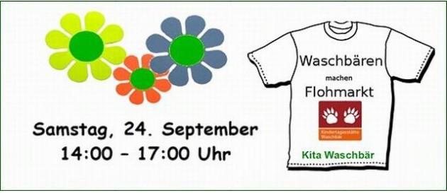 2016 09 24 Flohmarkt Kita Waschbaer