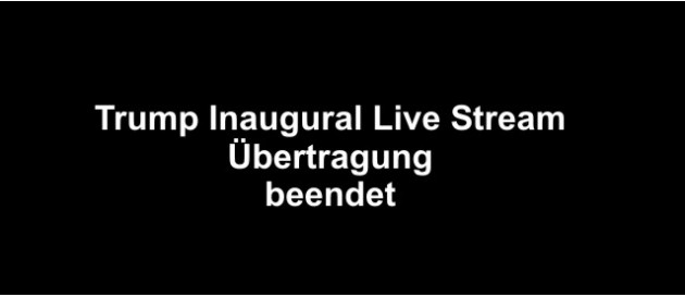 2017 01 20 Trump Inaugural Live Stream