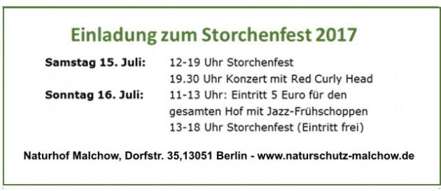 2017 07 15 Storchenfest Malchow