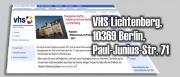 03.05. - Neue Kurse an der VHS-Lichtenberg